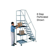 6 Step Steel Stock Picking Ladder - Grip Strut Tread