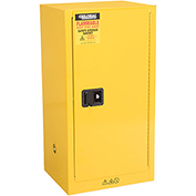Global&#8482 Compact Flammable Storage Cabinet 16 Gallon Capacity 1 Shelf