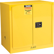Global&#8482 Compact Flammable Storage Cabinet 24 Gallon Capacity
