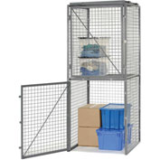 Bulk Storage Locker Double Tier 3' X 3' Starter Without Roof