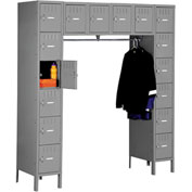 Tennsco Steel Locker SRS-721878-1 02 - 16 Person w/Legs 12x18x12 Assembled Medium Grey