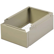 "Tennsco Closed Locker Base CLB-1218 214 - For 12""W X 18""D Locker No Legs 1 Wide, Sand"