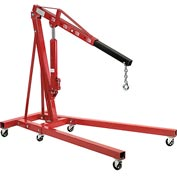 Global Industrial&#8482 Folding Floor Crane with Telescopic Boom 4000 Lb. Capacity