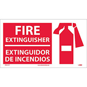 Fire Extinguisher Sign - Bilingual - Vinyl