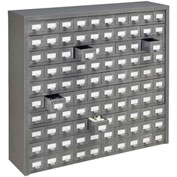 "Global™ Steel Drawer Cabinet - 100 Drawers 36""W x 9""D x 34-1/2""H"
