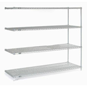 "Nexelate Wire Shelving Add-On 72""W X 24""D X 63""H"