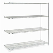 "Nexelate Wire Shelving Add-On 72""W X 24""D X 74""H"