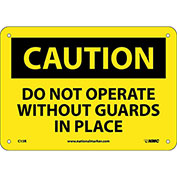 "Safety Signs - Caution Do Not Operate - Rigid Plastic 7""H X 10""W"