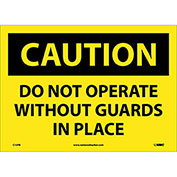 """Safety Signs - Caution Do Not Operate - Vinyl 10""""H X 14""""W"""