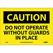 "Safety Signs - Caution Do Not Operate - Vinyl 7""H X 10""W"
