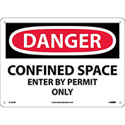 Safety Signs - Danger Confined Space - Fiberglass