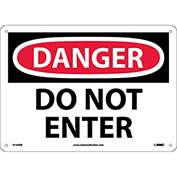 "Safety Signs - Danger Do Not Enter - Rigid Plastic 10""H X 14""W"