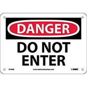 "Safety Signs - Danger Do Not Enter - Rigid Plastic 7""H X 10""W"