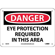 "Safety Signs - Danger Eye Protection - Rigid Plastic 7""H X 10""W"