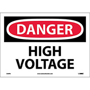 "Safety Signs - Danger High Voltage - Vinyl 10""H X 14""W"