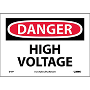 "Safety Signs - Danger High Voltage - Vinyl 7""H X 10""W"