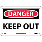 "Safety Signs - Danger Keep Out - Rigid Plastic 7""H X 10""W"