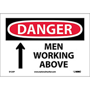 "Safety Signs - Danger Men Working Above - Vinyl 7""H X 10""W"
