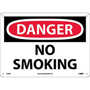 Safety Signs - Danger No Smoking - Aluminum