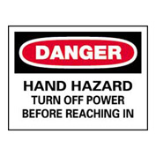 Signs With Safety Message Legend-Danger Hand Hazard
