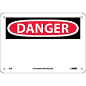 "Safety Signs - Danger - Rigid Plastic 7""H X 10""W"