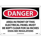 "Safety Signs - Danger Area - Rigid Plastic 10""H X 14""W"