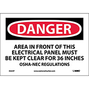 "Safety Signs - Danger Area - Vinyl 7""H X 10""W"