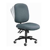 OFM Big and Tall Office Chair - Fabric - Mid Back - Gray