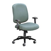 Big & Tall Mid Back Chair With Arms & Pneumatic Height Adjustment