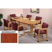 8-Sided 42x96 Table Mahogany Finish