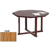 Octagon Table 48x48 Oak Finish