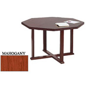 Octagon Table 48x48 Mahogany Finish