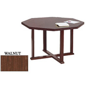 Octagon Table 48x48 Walnut Finish