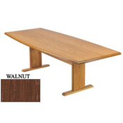 Conference Table 120 Inch Boat Shaped Walnut Finish