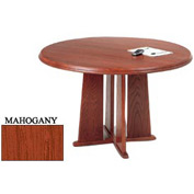 48 Inch Round Table Mahogany Finish