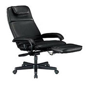 OFM Executive Recliner - Vinyl - High Back - Black