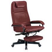 OFM Executive Recliner - Vinyl - High Back - Burgundy
