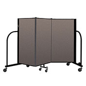 "Screenflex Portable Room Divider 3 Panel, 4'H x 5'9""L, Fabric Color: Oatmeal"
