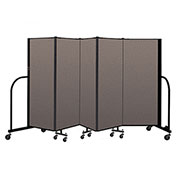 "Screenflex Portable Room Divider 5 Panel, 5'H x 9'5""L, Fabric Color: Oatmeal"