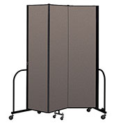 "Screenflex Portable Room Divider 3 Panel, 7'4""H x 5'9""L, Fabric Color: Oatmeal"