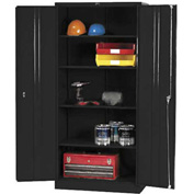 Global™ Storage Cabinet Easy Assembly 36x18x78 Black