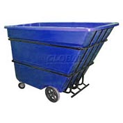 Bayhead Products Blue Heavy Duty 1.7 Cubic Yard Tilt Truck 2200 Lb. Capacity