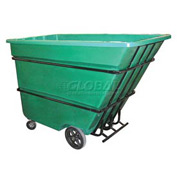 Bayhead Products Green Heavy Duty 1.7 Cubic Yard Tilt Truck 2200 Lb. Capacity
