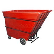 Bayhead Products Red Heavy Duty 1.7 Cubic Yard Tilt Truck 2200 Lb. Capacity