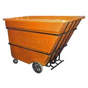 Bayhead Products Orange Heavy Duty 1.7 Cubic Yard Tilt Truck 2200 Lb. Capacity