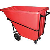 Bayhead Products Red Heavy Duty 5/8 Cubic Yard Tilt Truck 1500 Lb. Capacity