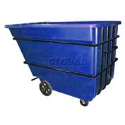 Bayhead Products Blue Heavy Duty 2.2 Cubic Yard Tilt Truck 2500 Lb. Capacity