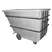 Bayhead Products White Heavy Duty 2.2 Cubic Yard Tilt Truck 2500 Lb. Capacity