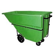 Bayhead Products Green Heavy Duty 1.1 Cubic Yard Tilt Truck 2100 Lb. Capacity