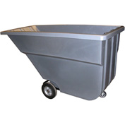 Bayhead Products Gray Light Duty 1.1 Cubic Yard Tilt Truck 600 Lb. Capacity